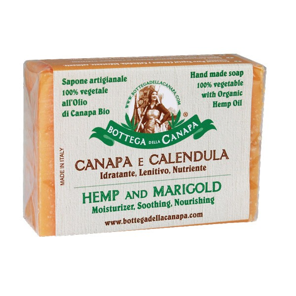 Hanfoel und Calendula Seife