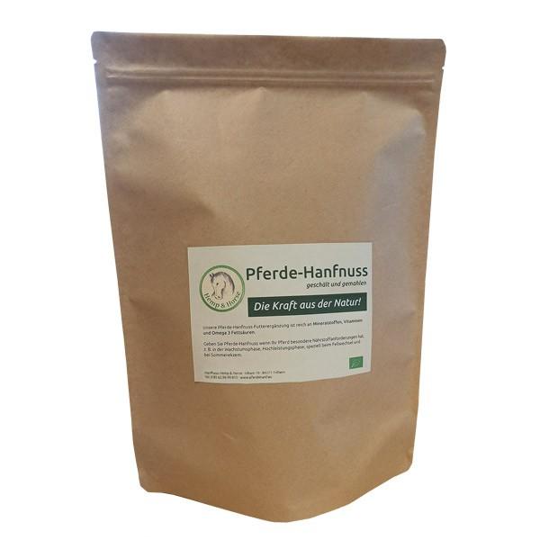 Hanfnuss Pferdehanf Futtermittelzusatz 2 kg Kraftpapier-Packung