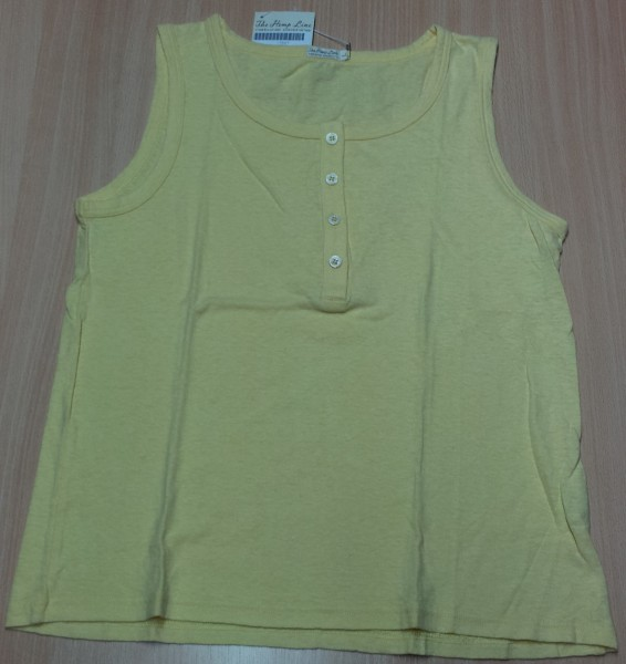 T-Shirt Damen Top mit Knoepfen Gr. L