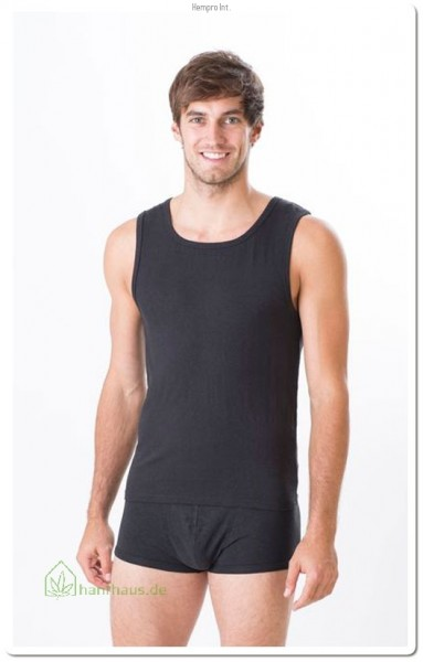 Unterhemd Herren Black Gr. S