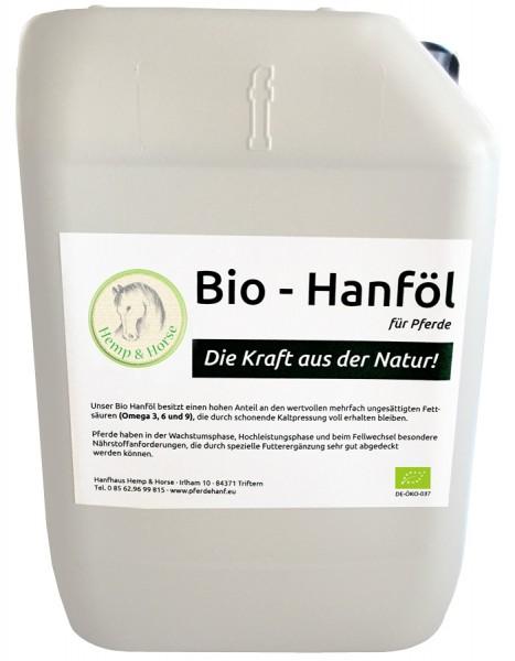 Hanföl Futtermittelzusatz für Pferde 5 l Kanister