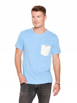 T-Shirt, Herren, Kurzarm, 55% Hanf, Gr. XXL, della robbia blue, Hanf, Hanfprodukte, Bio