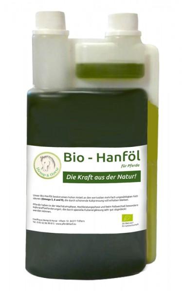 Hanföl Bio als Futtermittelzusatz für Pferde 1 l in Lebensmittelqualität