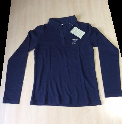 T-Shirt Langarm Polo Damen, Gr. M