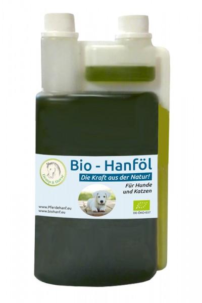 Bio Hanföl Futtermittelzusatz für Hunde und Katzen 500 ml